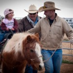 Shane Henderson leads pony rides for the children of the Sierra Vista Cowboy Church on January 8, 2012.